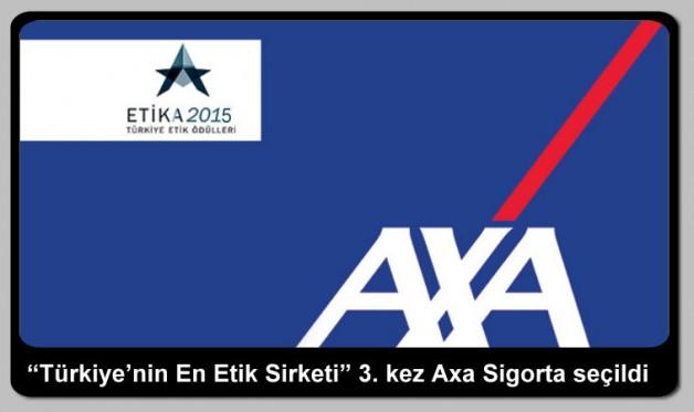 """""""Türkiye'nin En Etik Şirketi"""" 3. kez Axa Sigorta seçildi"""
