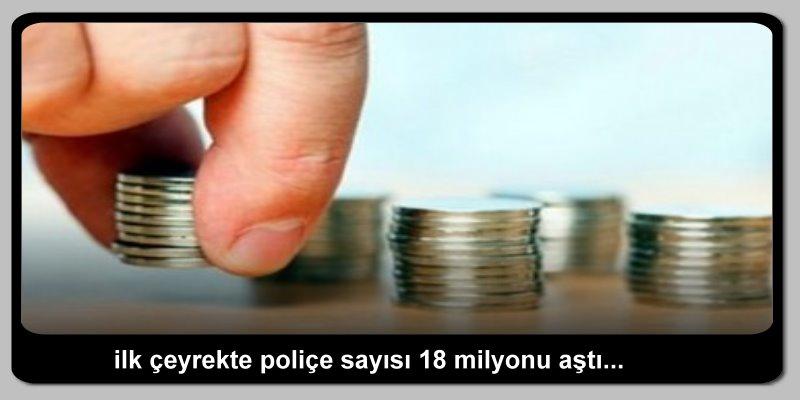 İlk çeyrekte poliçe sayısı 18 milyonu aştı